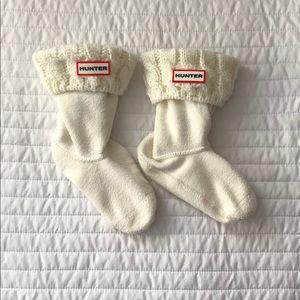 Hunter Original Kids Cable Knit Cuff Boot Socks